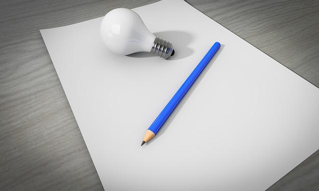 nápad a papír