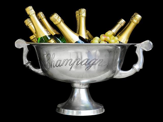 láhve šampaňského