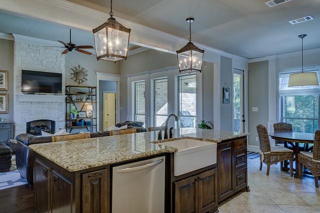 lucerny v kuchyni