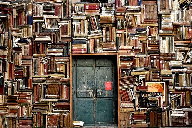 dveře knihovny