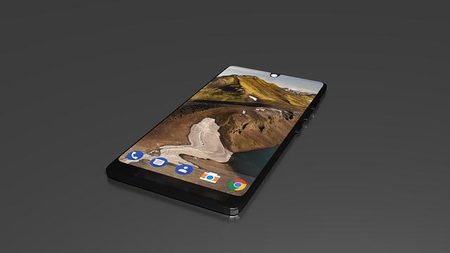 černý smartphone